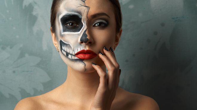 Halloweensky make-up – tutoriál: Crazy Joker